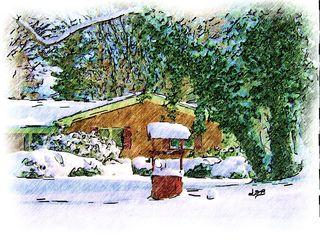 Blog_winter on evergreen_sketch